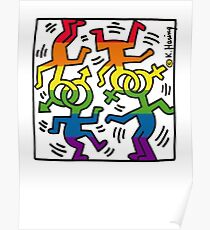 Keith Haring Heritage of pride  rainbow Poster