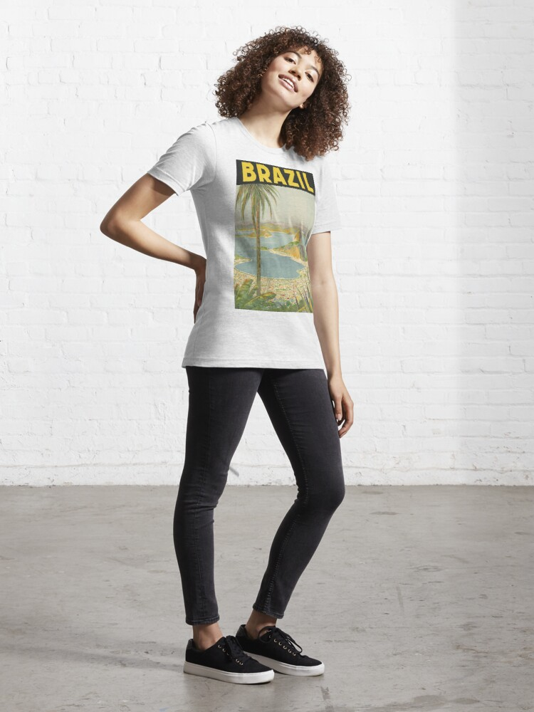 Alternate view of 1940s Painting of Brazil Essential T-Shirt