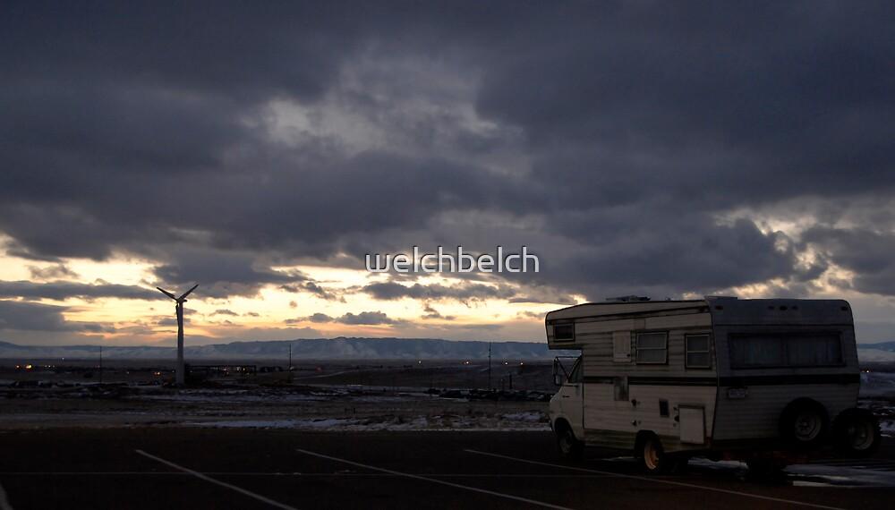 RV on a dark Wyoming Evening by welchbelch