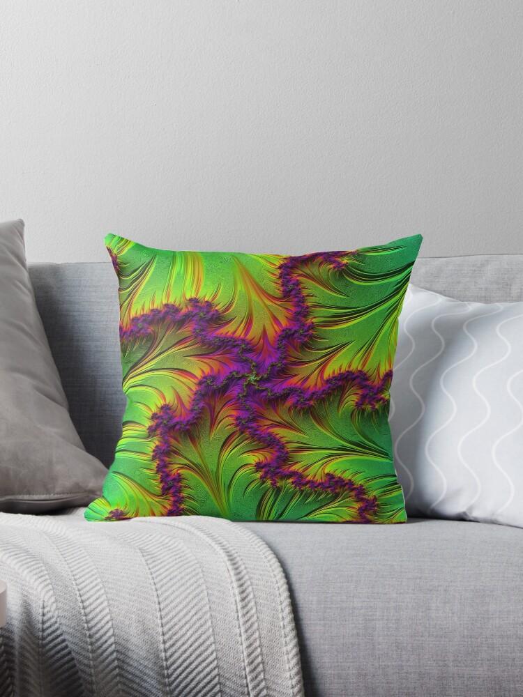 Colorful green purple rainbow fractal art by MarbledDesign