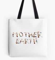New age crystals and gemstones spelling out Mother Earth  Tote Bag