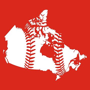 Canada Baseball (Red) by atedaryl