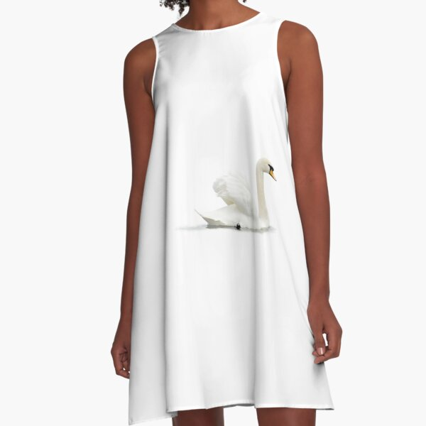 Like a White Cloud A-Line Dress