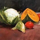 Still Life with Vegetables by Roz McQuillan