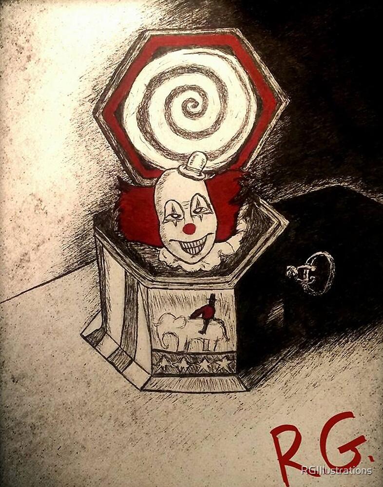 Creepy Clown Music Box