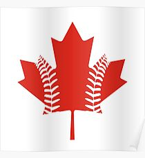 Maple Leaf Baseball Poster