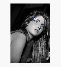 Farfalla Blu Photographic Print