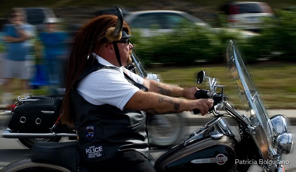 Motorcycle Police by Patricia Bolgosano