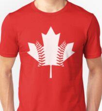 Maple Leaf Baseball (White) Unisex T-Shirt