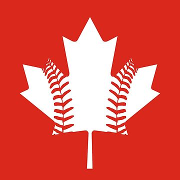 Maple Leaf Baseball (White) by atedaryl