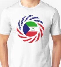 Equatoguinean American Multinational Patriot Flag Series Slim Fit T-Shirt