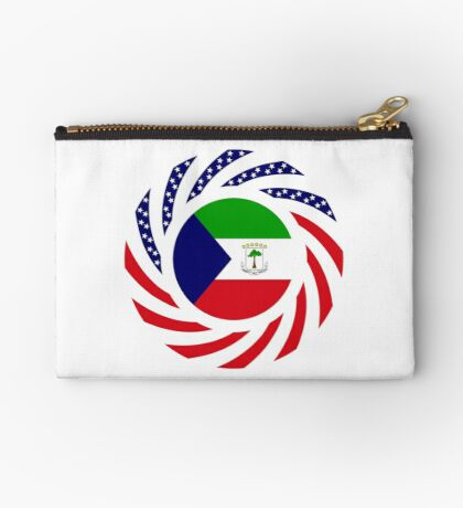 Equatoguinean American Multinational Patriot Flag Series Zipper Pouch