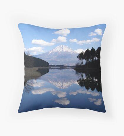 Diamond View - A Fuji Reflection Throw Pillow