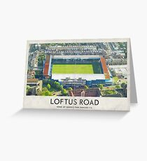 Vintage Football Grounds - Loftus Road (Queens Park Rangers FC) Greeting Card