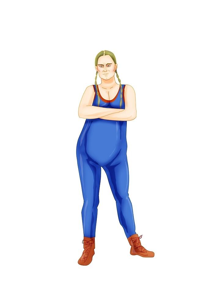 GLOW - Ladies of Wrestling - Reggie by biondoartwork