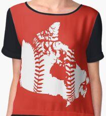 Canada Baseball (Red) Chiffon Top