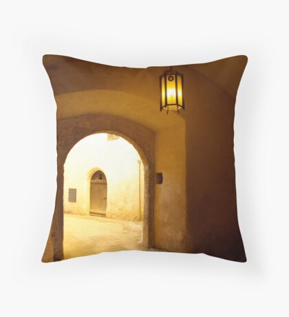The Amber Room Throw Pillow