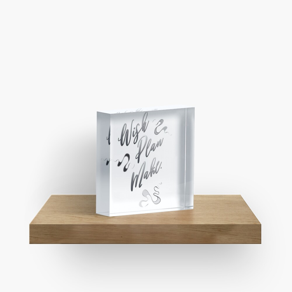 Lucky Squiggles – in elegant mood Acrylic Block
