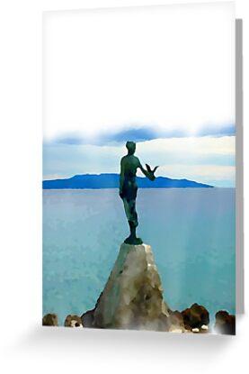 Maiden & Seagull Opatija Croatia by Mark P Hennessy