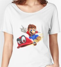 Super Mario Odyssey Cap Throw Women's Relaxed Fit T-Shirt