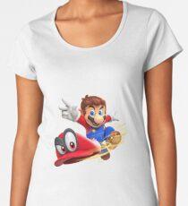 Super Mario Odyssey Cap Throw Women's Premium T-Shirt