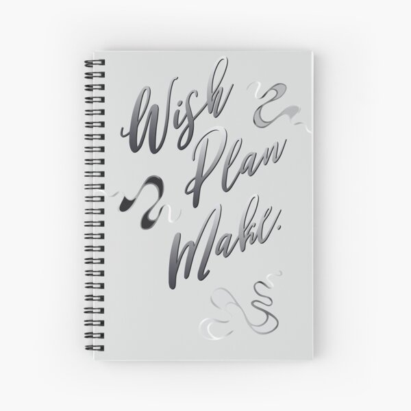 Lucky Squiggles – in elegant mood Spiral Notebook