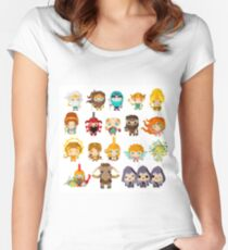 gods and mythological creatures from greek and roman mythology Women's Fitted Scoop T-Shirt