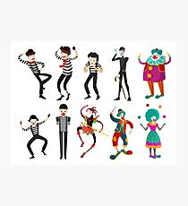 clowns mimes and harlequin Photographic Print