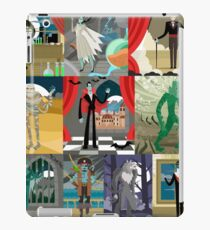 evil classic monsters spooky creatures iPad Case/Skin