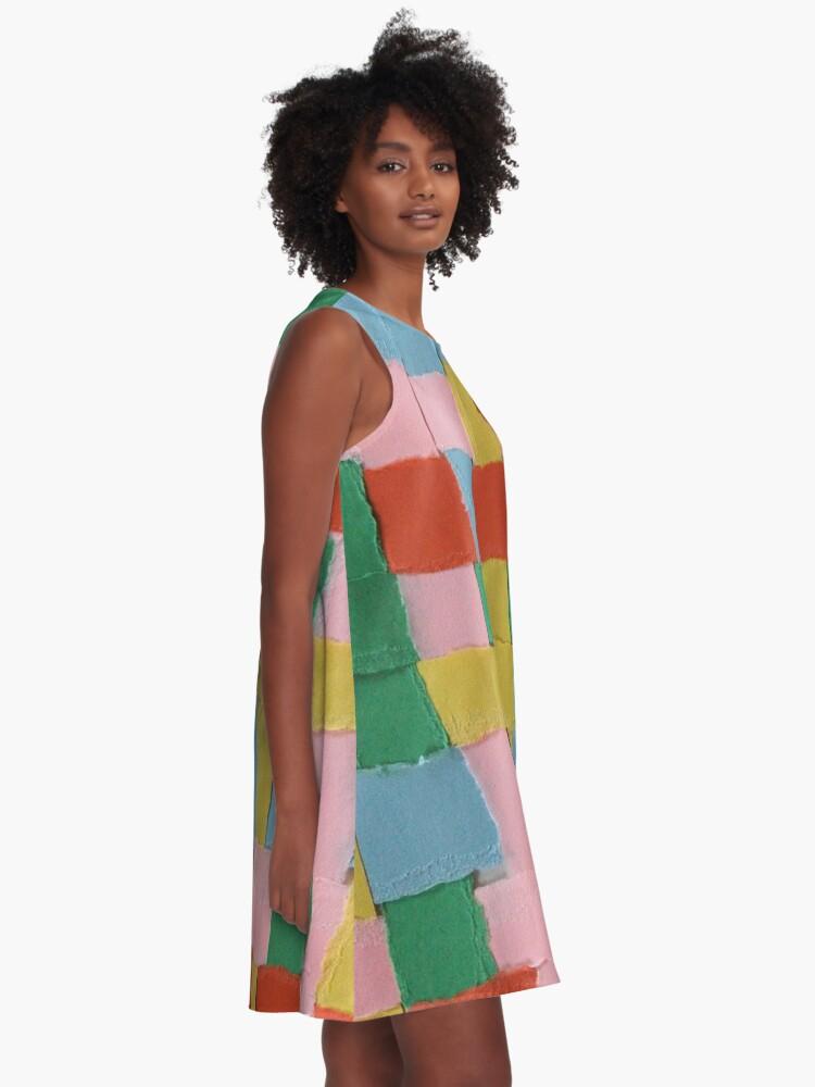 Alternate view of Summer Weave Block A-Line Dress