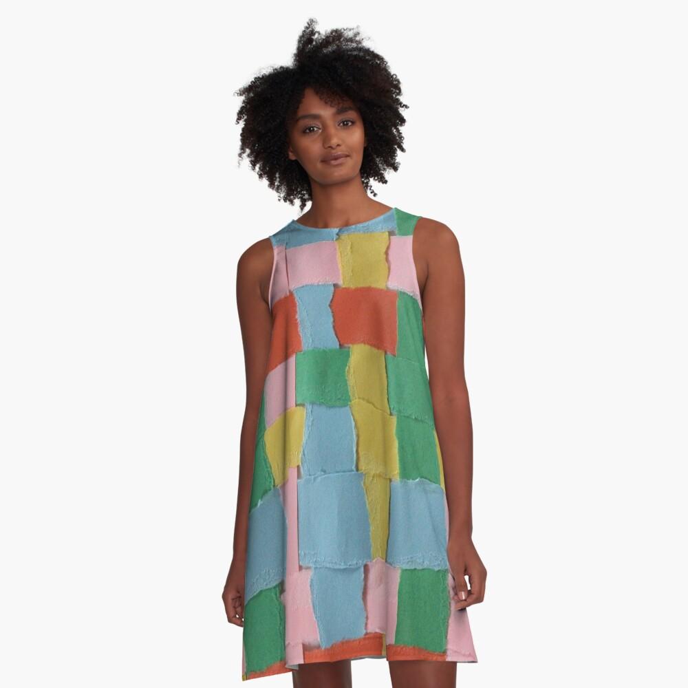 Summer Weave Block A-Line Dress