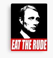 EAT THE RUDE - Hannibal [Dark Background] Canvas Print