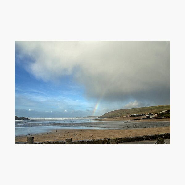 Start of a Rainbow at Perranporth,Cornwall, UK Photographic Print
