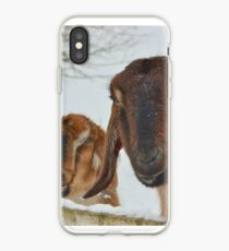 Goats in the snow  iPhone Case