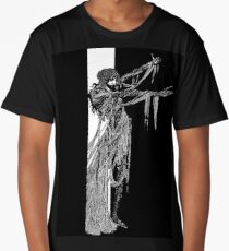 Harry Clarke - Zombie Edgar Allen Poe Reaching Out from Doorway Long T-Shirt