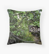 43-1/2 Meeting Street, Charleston, SC Throw Pillow