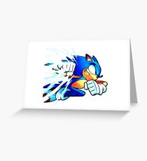 Sonic Punch Greeting Card