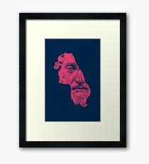 MARCUS AURELIUS ANTONINUS AUGUSTUS / prussian blue / vivid red Framed Print