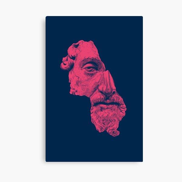 MARCUS AURELIUS ANTONINUS AUGUSTUS / prussian blue / vivid red Canvas Print
