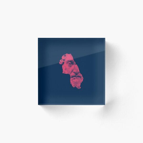 MARCUS AURELIUS ANTONINUS AUGUSTUS / prussian blue / vivid red Acrylic Block