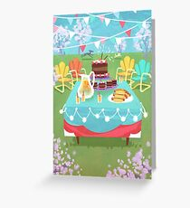 Vintage Summer Party Greeting Card