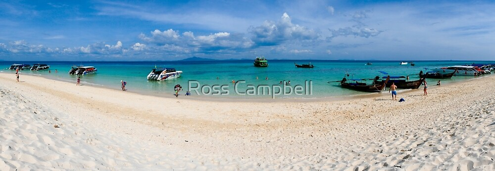 Bamboo Island, Phi Phi Islands, Thailand by Ross Campbell