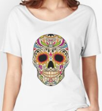Mexican color skull Women's Relaxed Fit T-Shirt