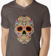 Mexican color skull Men's V-Neck T-Shirt