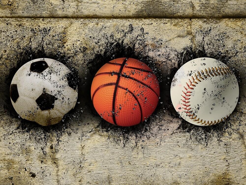 Basketball, baseball and soccer by erllre74