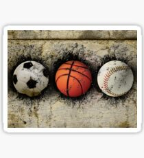 Basketball, baseball and soccer Sticker