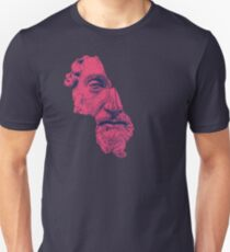 MARCUS AURELIUS ANTONINUS AUGUSTUS / prussian blue / vivid red Slim Fit T-Shirt