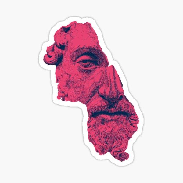 MARCUS AURELIUS ANTONINUS AUGUSTUS / prussian blue / vivid red Sticker