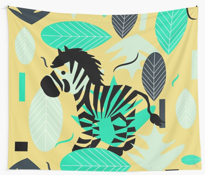 Zebra and leaves by cocodes