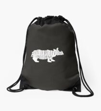 Never Stop Believing in Unicorns Drawstring Bag